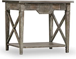 Hooker Furniture True Vintage End Table in Driftwood and Whitewash