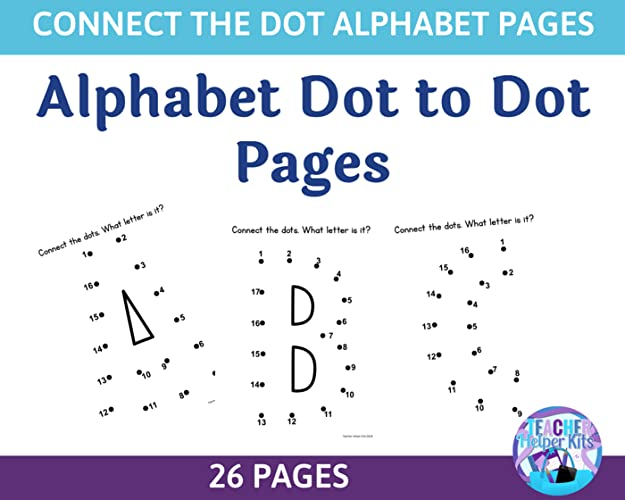 Learn The Alphabet Letters In A Fun Way! Children Will Connect The Dots To  Practice Letter Recognition! Includes 26 Pages, One For Each Letter. After  Completing The Dot-to-dot, Children Can Color The Alphabet Letter.