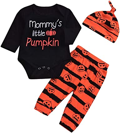 Lurryly❤Halloween Costumes for Girls Boys Romper+Pants+Cap Bodysuit Clothes Outfit 0-2T