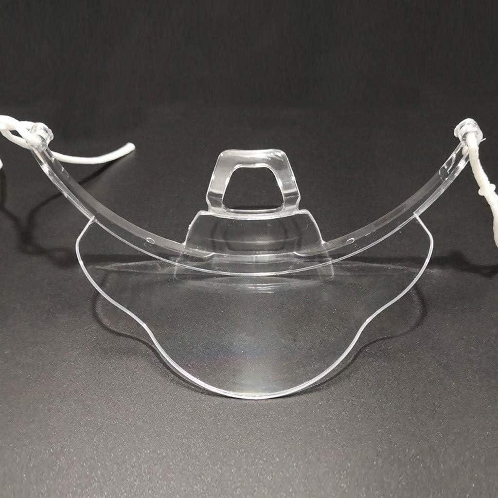 20//30//50 Packs Reusable Plastic Mouth Clear M/àsc Transparent Environmental For Restaurant Cooking Protective Hotel waiter