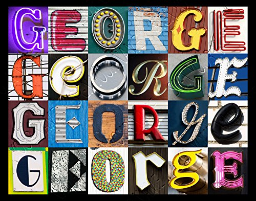 George Personalized Name Poster Using Sign Letters   Small