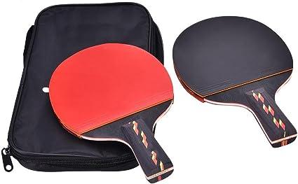 Raqueta de Tenis de Mesa de Ping Pong,1 Par Juego de Tenis de Mesa ...
