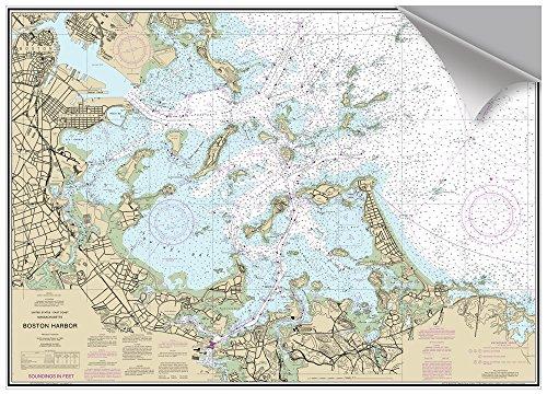 MAPTECH Boston Outer Harbor, MA Decorative Nautical Chart (Chart Harbor Boston)