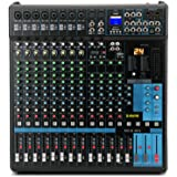 G-MARK Professional Audio Mixer Sound Board Console System Interface 16 Channel Digital USB Bluetooth MP3 Computer Input 48V