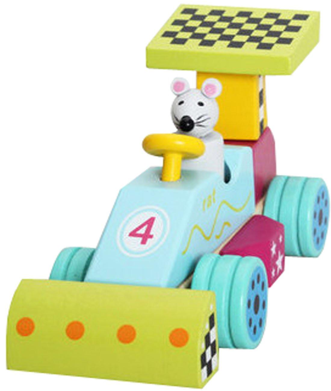 ナット組み合わせブロック車、子供のおもちゃ車、漫画動物モデルデザイン   B00NODW3LO