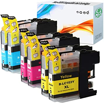 HGZ 4 Pack LC103XL Ink Cartridge Replacement for Brother LC103 MFC-J245 MFC-J285DW MFC-J450DW MFC-J475DW MFC-J650DW MFC-J870DW MFC-J875DW Printer 4 Black