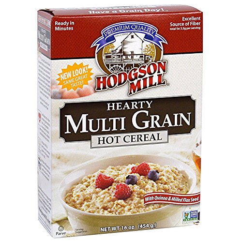 Flax Seed Grain - Hodgson Mill Multi Grain Hot Cereal Quinoa and Milled Flax Seed, 16 Ounce (Pack of 6), Heart-Healthy Hot Breakfast Cereal for a Wholesome Start to Your Morning, Enjoy With Fresh Fruit