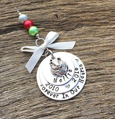 Guinea Pig Memorial Christmas Ornament | Pet Memorial Ornament | Pet Keepsake Ornament | Pet Remembrance Ornament | Sympathy Gift