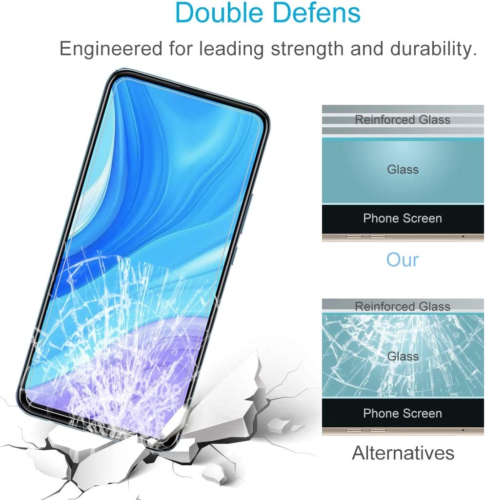 LGYD for Huawei Enjoy 10 Plus 50 PCS 0.26mm 9H 2.5D Tempered Glass Film