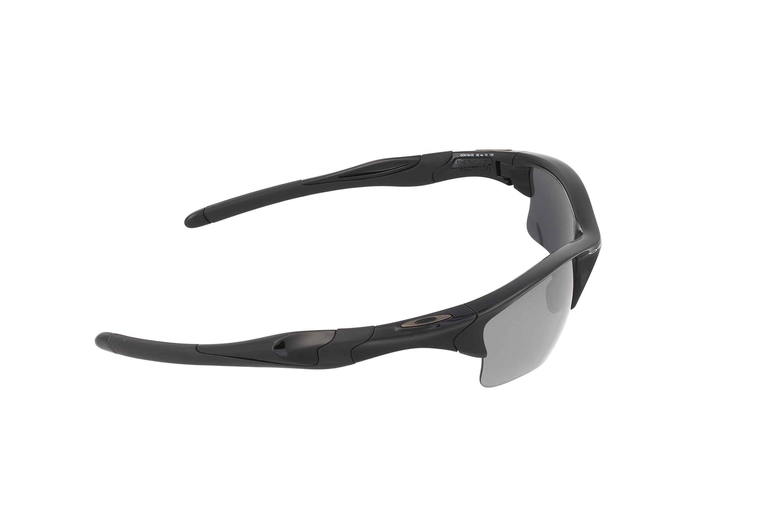 Oakley Mens Half Jacket 2.0 XL OO9154-05 Polarized Sunglasses 58mm, Polished Black Frame/Black Iridium Polarized Lens, 62 mm by Oakley (Image #3)