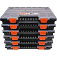 Set van 6 sorteerdorzen met naar wens verdeelbare scheidingsvakken, voor gereedschap en andere kleine onderdelen, circa…