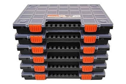 Organizer Ufficio Fai Da Te : Set di 6 scatole vuote per assortimenti con scomparti divisibili