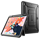 iPad Pro 11 Case 2018, SUPCASE Support Pencil Charging with Built-in Screen Protector Full-Body Rugged Kickstand Protective Case for iPad Pro 11 inch 2018 Release-UB Pro Series (Black)