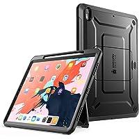 SUPCASE Funda para iPad Pro 12.9 2018, [Serie UB Pro]Soporte para carga de lápiz de Apple con protector de pantalla incorporado. Funda protectora reforzada de soporte de cuerpo completo para iPad Pro 12.9(2018) (Negro)