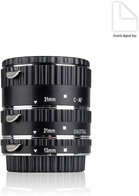 Meike MK-C-AF1-A - Tubo de extensión de Metal para cámara réflex ...