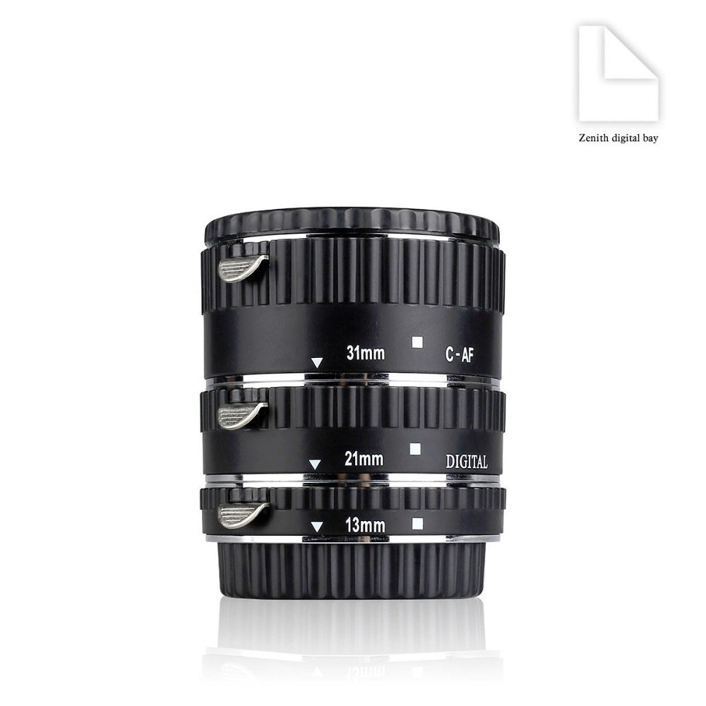 MEIKE MK-C-AF1-A Metal Auto Focus Macro Extension Tube Set for Canon DSLR Camera 13MM 21MM 31MM 1D 6D 7D 50D 70D 550D 700D 5D Mark II 5D Mark III etc by Meike
