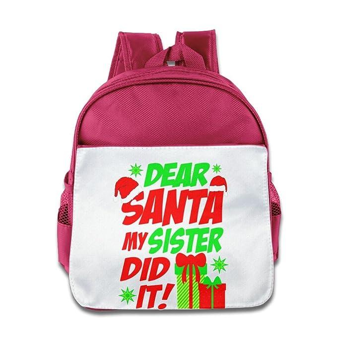 toddler school bag dear santa my sister did it christmas holiday humor t shirt backpack