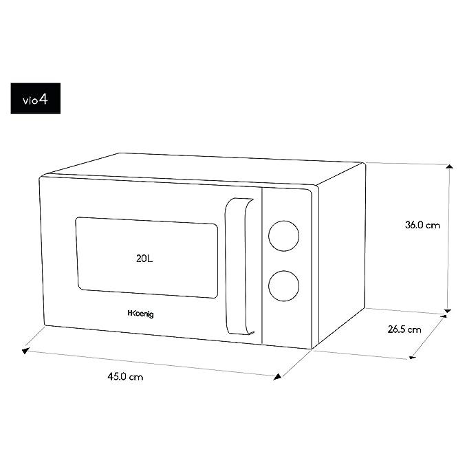 H.Koenig VIO4 Microondas/20 L /Plato giratorio 24,5 cm/6 etapas de ...