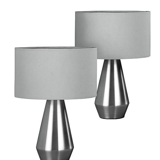 Habitat maya pair of table lamps grey amazon lighting habitat maya pair of table lamps grey mozeypictures Gallery