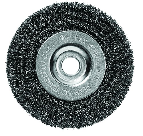 Century Drill & Tool 76841 Coarse Crimped Bench Grinder Wire Wheel, 4