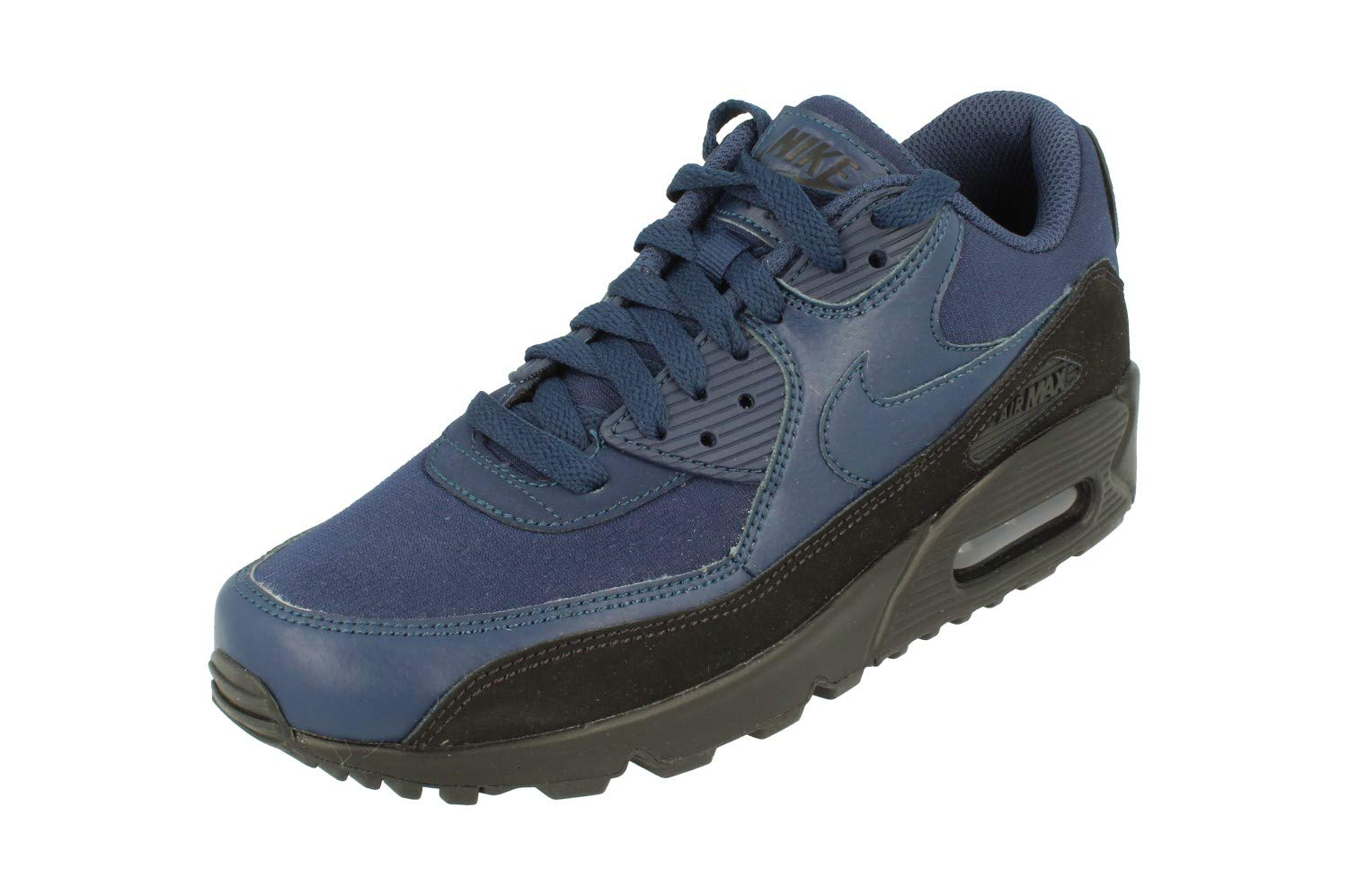 Nike Air Max 90 Essential Mens Running Trainers AJ1285 Sneakers Shoes (UK 6 US 7 EU 40, Black Midnight Navy 007)