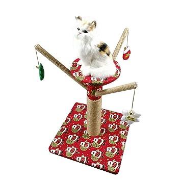 PETUNIA Árbol trepador de Tema navideño para el Gato Que Salta el Juguete Gato Que Sube Rasguño del Poste: Amazon.es: Hogar