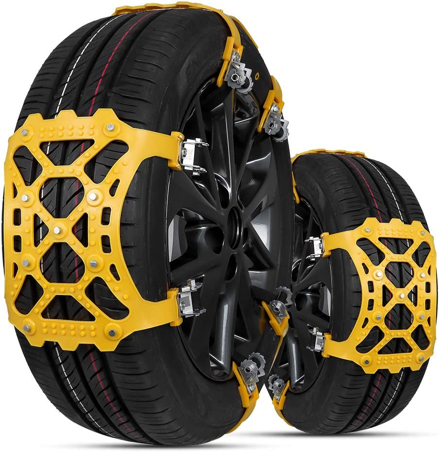 Zhina Set Of 6 Universal Anti Slip Snow Chains For Suv Cars With 165 285 Mm Tyre Width Auto