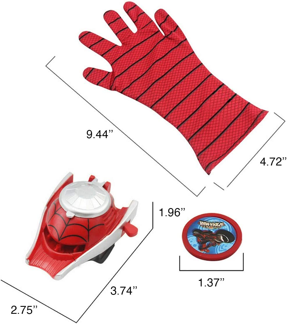 Red Spider The Season Toys Kids Superhero Magic Gloves with Wrist Ejection Launcher