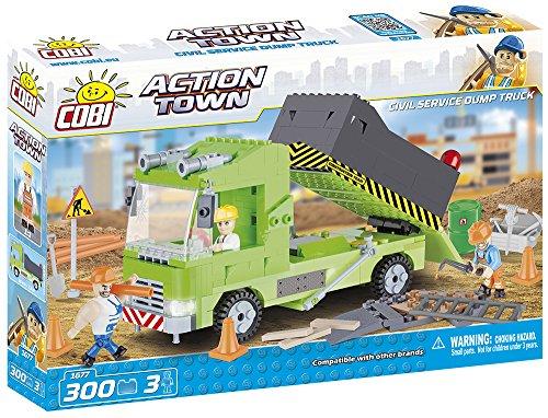 Caminhão de Obra com 300 Peças COBI Blocos de Montar Verde