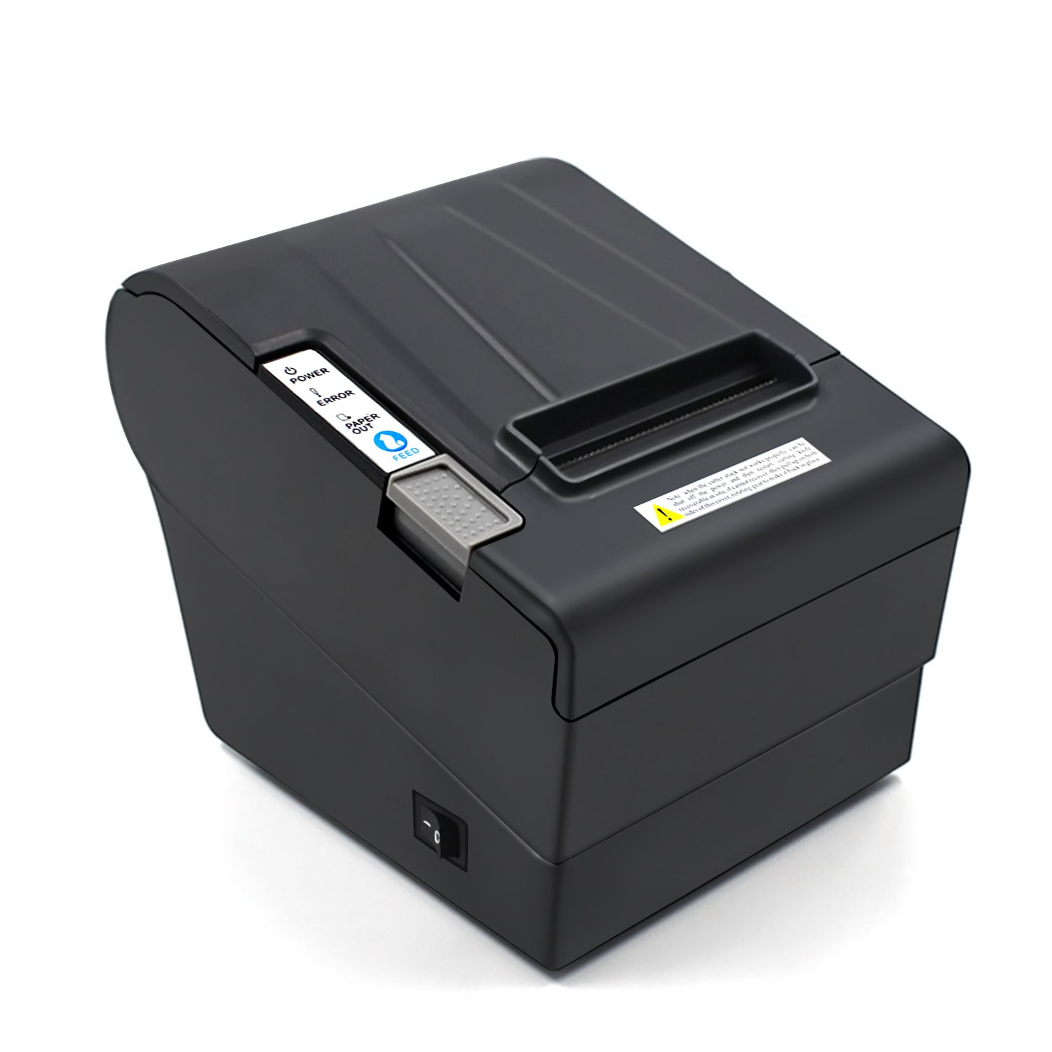 Desktop POS Direct Thermal Receipt Printer,300mm/second Print Speed--Auto Cutter--USB/RS232/LAN Multiple Ports--Compatible With POS Commands--Work on Windows XP/7/8/8.1/10/Linux/Android