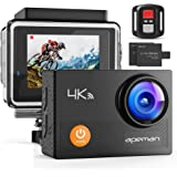 "APEMAN Action Camera 4K WiFi 20MP Waterproof Underwater Camera Ultra Full HD Sport Cam 30M Diving with 2"" LCD 170 Degree…"