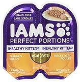 Iams Healthy Kitten Grain Free Wet Cat Food, Chicken Pate, 2.6 oz. (24 Twin Packs)