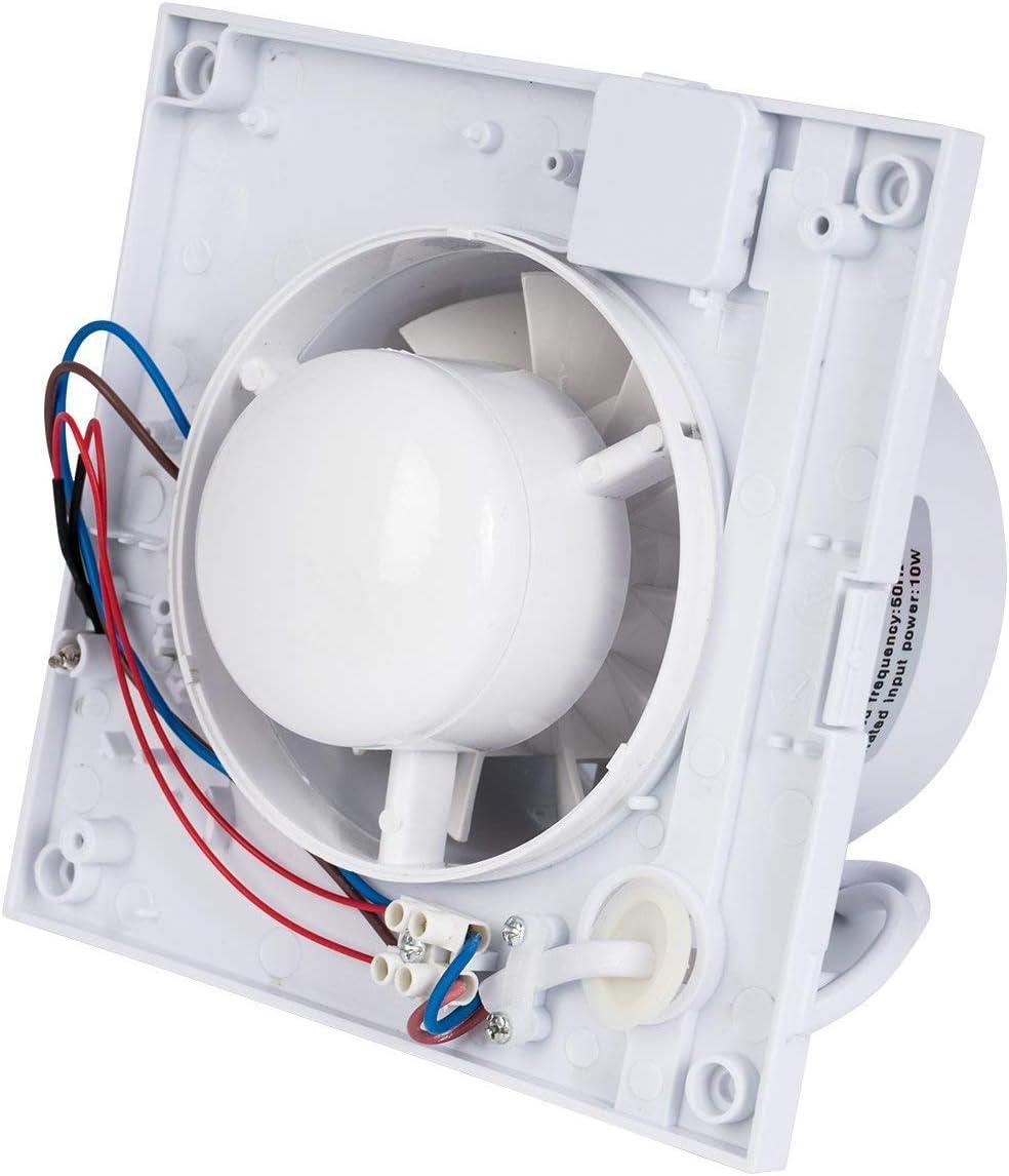 Honguan Ventilateur Extracteur De Salle De Bain 100mm Plafondmur Aérateur De Gaine 95 Mch