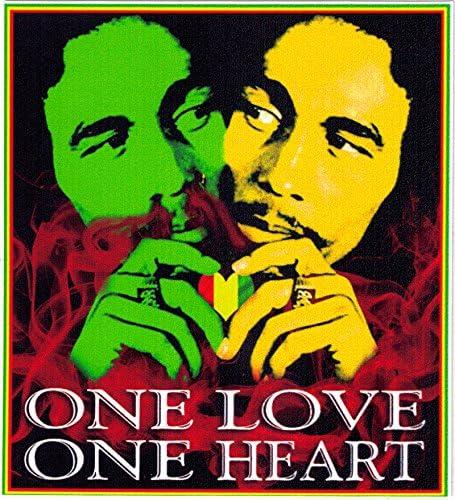 3/'/' Bob Marley One Love Car Bumper Sticker Decal 5/'/' or 6/'/'