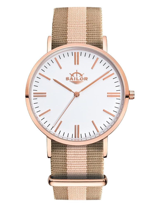 Sailor Damen Armbanduhr Classic Harbour mit Nylonarmband | 40 mm (normale GrÖße) | Armbandbreite: 20 mm