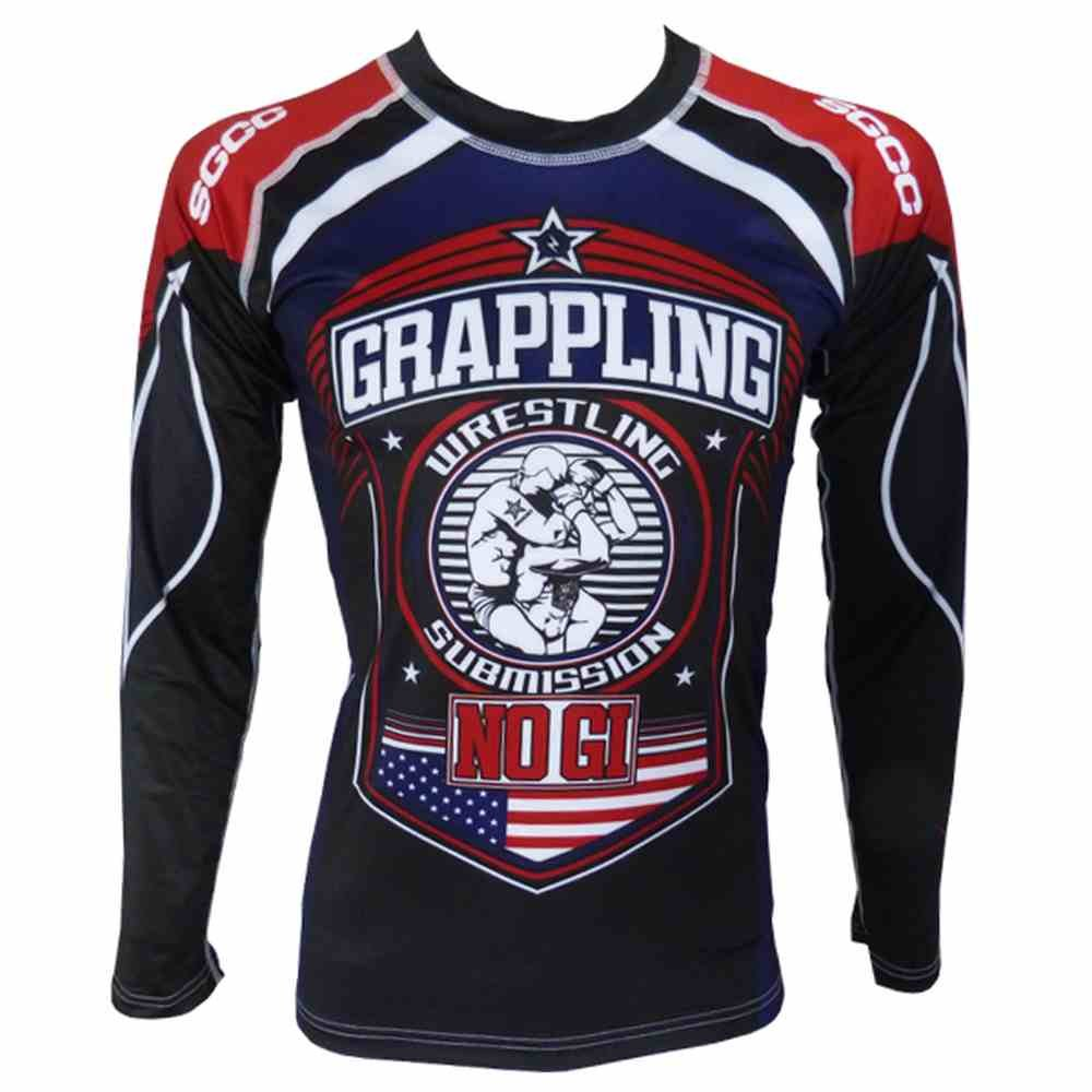 Rashguard Absolute NOGI USA Maglietta a maniche lunghe, per MMA SGCC