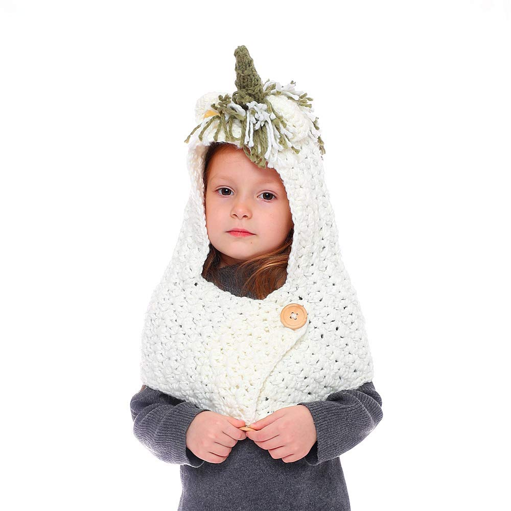 JXClothing Winter Children Knitted Hat Scarf Pocket Kids Woolen Coif Unicorn Beanie/…