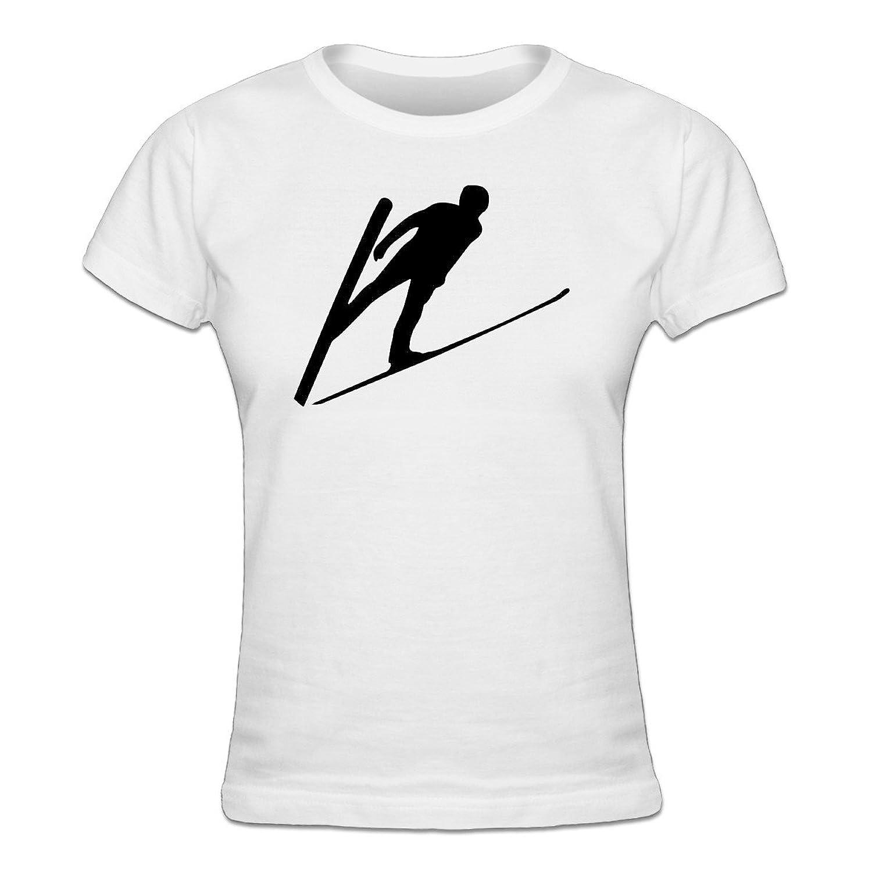 Ski Jumper Silhouette Frauen T-Shirt by Shirtcity