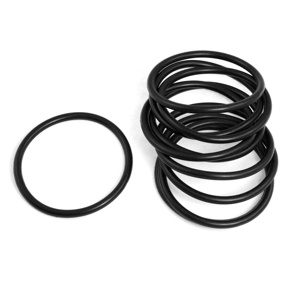 10x NBR 50mm x 4mm O Rings Hole Sealing Gaskets Washers for Automobile