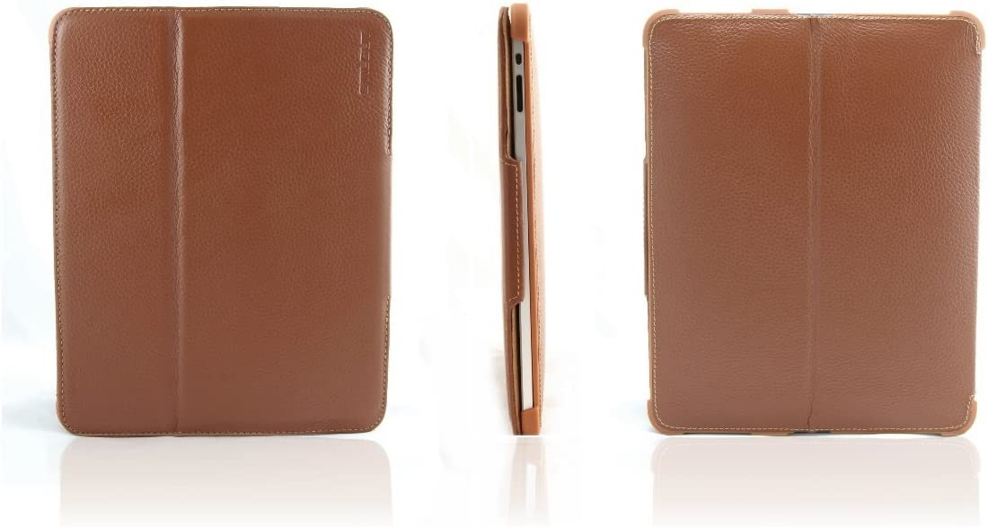 StilGut Magic Case extremely flat in genuine leather for Apple iPad 2 Wifi cognac 3G with stand-up function