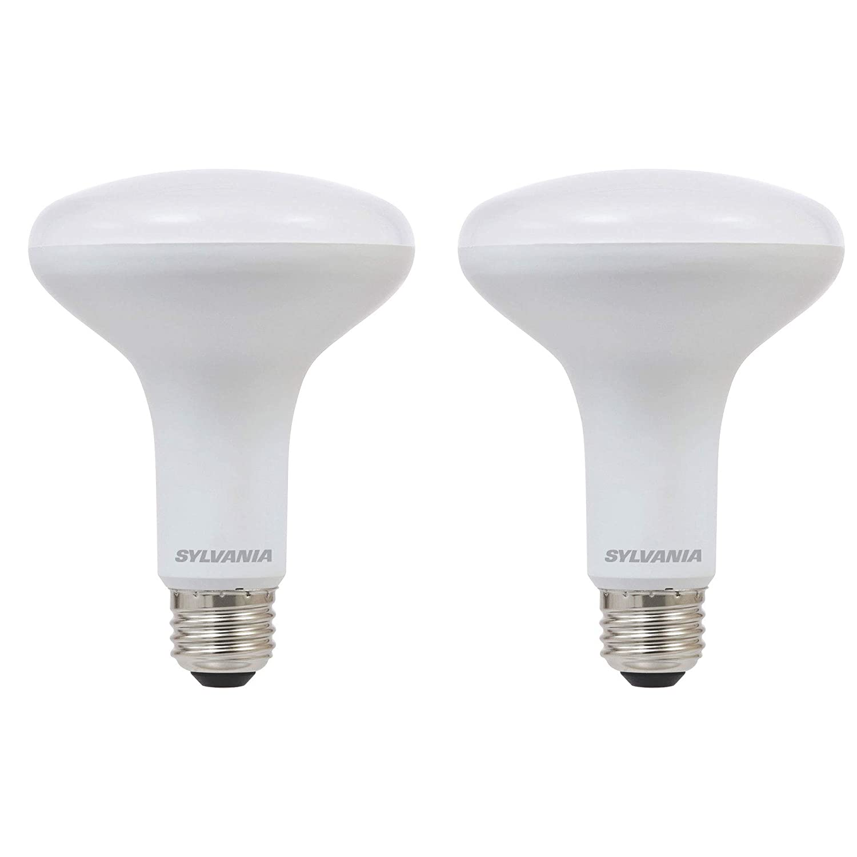 Sylvania BR30 65W 省エネ 調光機能付き ソフトホワイト 2700K LED 投光電球 (2個パック)   B07GZY2SLD