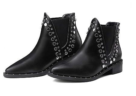Spitz Flach Boots Warme Stiefel Damen Ankle Oudan Chelsea kZTPiOXu