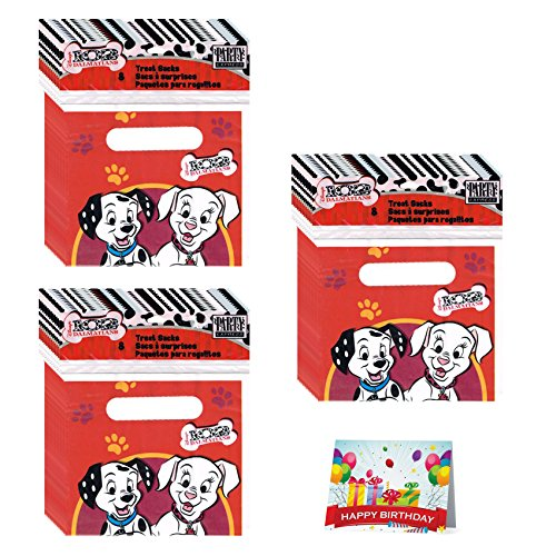 102 Dalmatians Birthday Party Favor Treat Bags Bundle Pack of 24