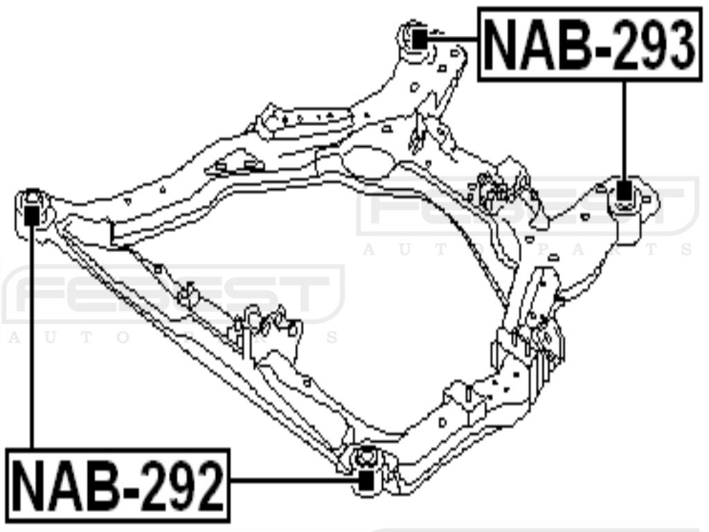 FEBEST NAB-293 Rear Body Bushing