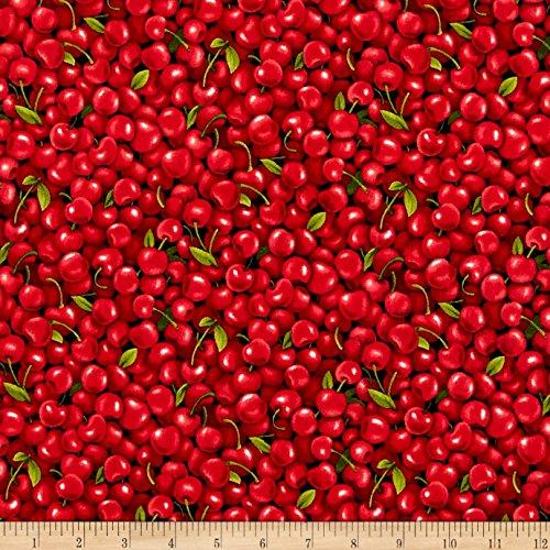 Fabri-Quilt Farmer John Garden Cherries Fabric by The Yard, (Cherries Fabric)
