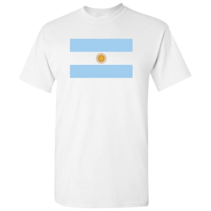 76ef5d82 UGP Campus Apparel Argentina Latin American Flag Basic Cotton T-Shirt -  Small - White
