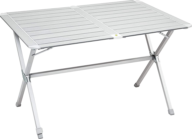 Gris Aluminio BRUNNER Campingtisch Silver gapless Mesa de Camping Plateada