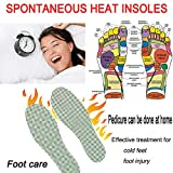 AutumnFall Spontaneous Heat Magnetic Massage Shoe Insoles Pad Therapy Acupressure Foot Care Cushion (US Size 10,Multicolor)