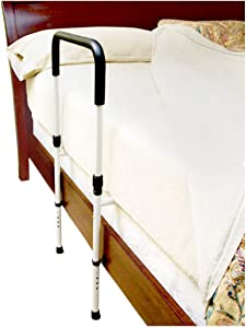 PYD Safety Bed Rails for Seniors Elderly, Medical Adjustable Height Home Bed Assist Bar Handle, Assistance for Getting in & Out of Bed, Fall Prevention