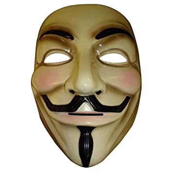 Máscara ANONYMOUS - V FOR VENDETTA - REVOLUTION - crema